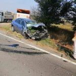 Accident rutier grav pe DN 4, în localitatea Valea Roşie