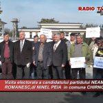 CHIRNOGI-Vizita electorala a candidatului partidului NEAMUL ROMANESC la Alegerile prezidentiale 2019-dl PEIA NINEL,in comuna CHIRNOGI !